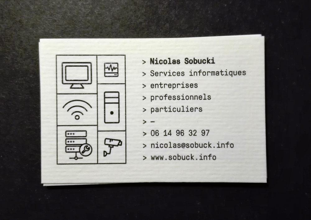 Nicolas Sobucki - Carte de visite